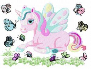 Licorne avec Papillons