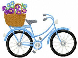 Vélo Fleuri bleu