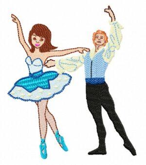 Danseurs ballet bleu