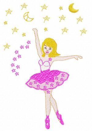 Danseuse étoile rose