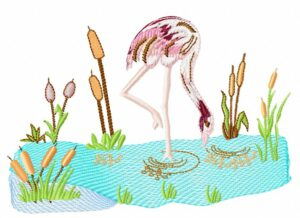 Flamingo fresque