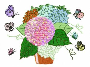 Hortensia Papillons