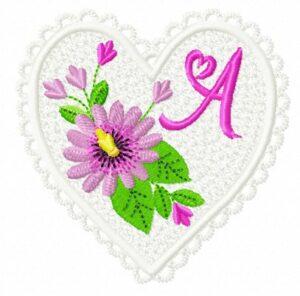 Alphabet Cœur Passiflora (FSL)