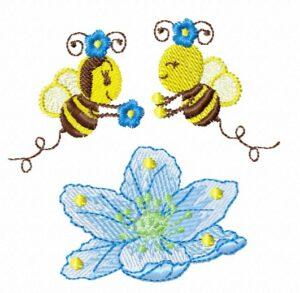 Abeilles Fleur bleue