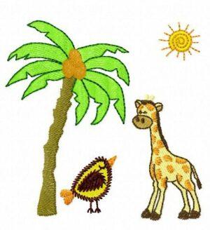 Savane girafe