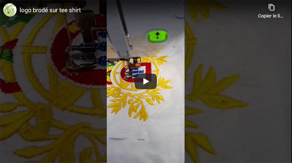 Motif à broder sur Tee shirt