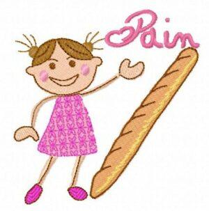 Fillette pain