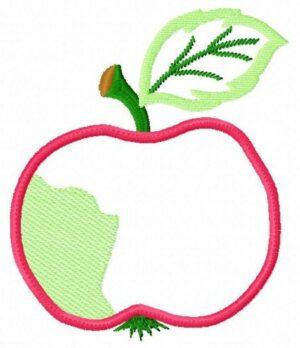 Pomme (Appliqué) avec Tuto