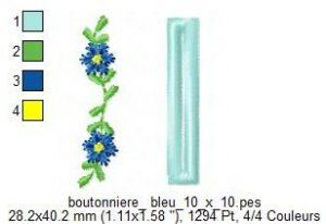 Boutonnière bleue