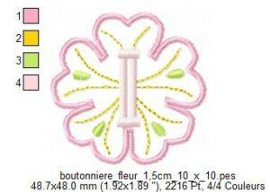 Boutonnière fleur