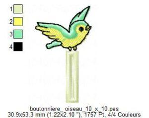 Boutonnière Oiseau