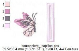 Boutonnière Papillon