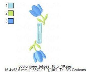 Boutonnière Tulipes