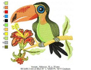 Toucan Hibiscus
