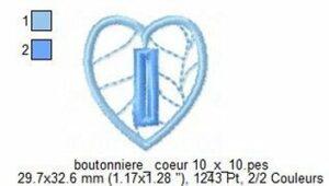Boutonnière Coeur