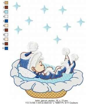 Bébé Garçon étoiles