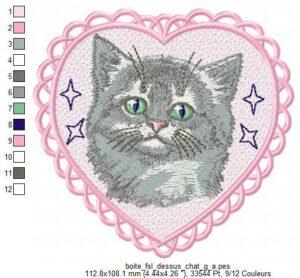 Chat gris (Boite FSL) (avec Tuto)