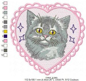 Coeur Chat gris (FSL)