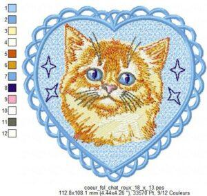 Coeur Chat roux (FSL)
